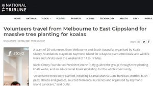 gippsland tree planting news